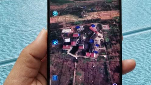 手机里有个3D实景地图,可以看清家乡的每个角落,太实用了
