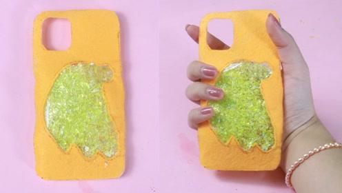 【DIY手机壳】冬天的暖手毛毡布手机壳,简约又暖手!
