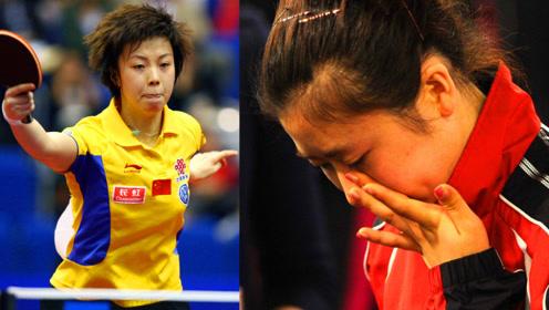 中国乒乓球有多厉害?福原爱听说张怡宁不上场笑了,可是下一秒又哭了