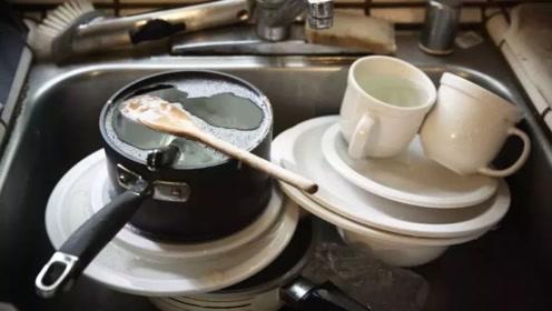 吃完饭碗泡一会儿再洗,你知道后果是什么吗?吓得赶紧把碗刷了