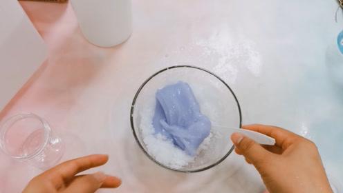 起泡胶能变成蚕丝泥吗?鱼妈来实验了一把,无硼砂结局挺好玩