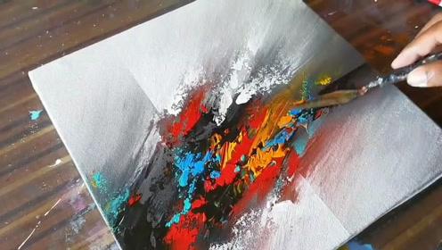 趣味艺术画:画漂亮抽象画
