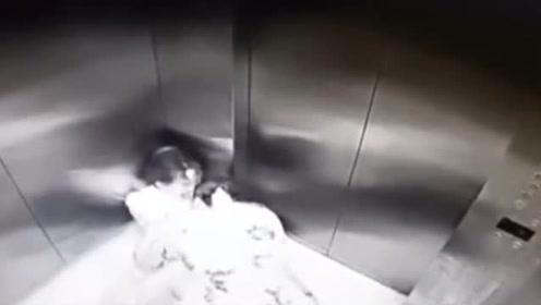 漂亮妹子下班遭彪形大汉尾随,电梯关门那一刻,想站起来都难!