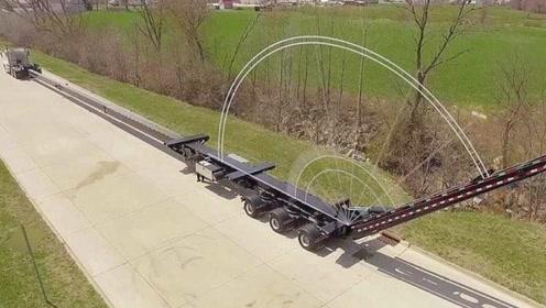 国外发明可伸缩卡车,快速伸缩如同变形金刚,网友:有点炫酷