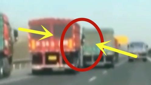 两大货车司机高速斗气,疯狂举动被拍下,派出所走一趟?