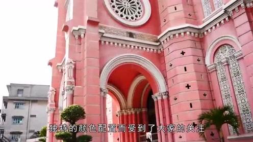 越南极具风格的一所教堂,成为了旅游的必须打卡地