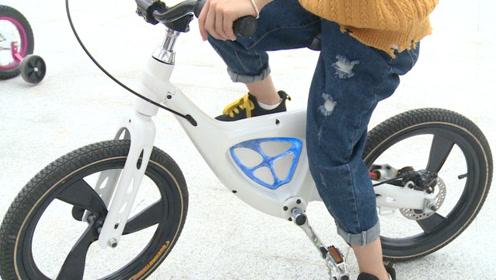 儿童骑车吊链夹手,浙江牛人发明无链自行车,全球首创