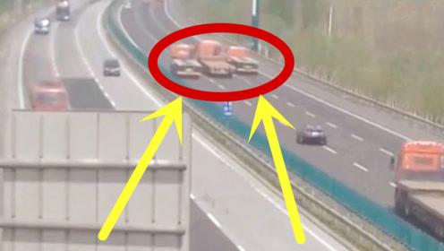 3辆半挂车招摇过市,5秒后失控冲下高速,监控拍下恐怖全程!