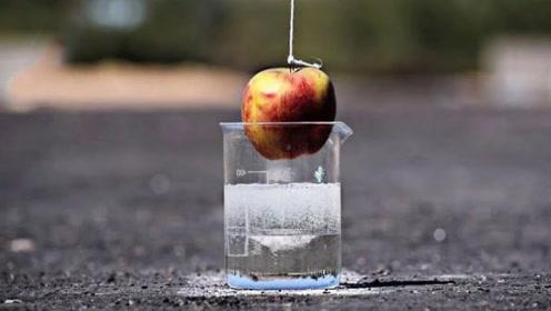 """""""食人鱼""""溶液腐蚀性有多强?将苹果扔进去,几分钟苹果消失了!"""