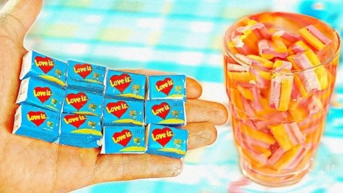 老外脑洞大开自制口香糖,和买的味道有差吗?卖相看着没了食欲