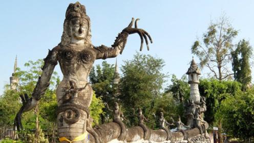 世界上最奇怪的公园,数百尊形态诡异造型夸张神像,搭配在一起却又很和谐!