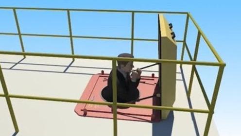 国外厉害的逃生通道,能从顶楼直接跳下,看起来和坠楼没区别?
