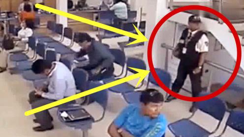 国外银行保安英勇对抗一伙劫匪,这场面丝毫不输枪战片!