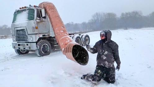 """服了!小伙给卡车装上11米长的油桶""""排气管"""",开起来还玩得挺过瘾"""