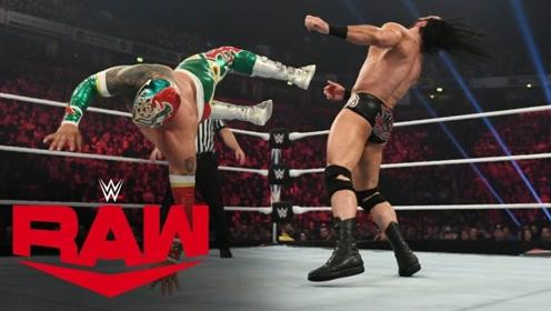 RAW1381期: 麦金泰尔一把抱摔辛卡拉截断狂风卷 砍刀脚送对手败仗