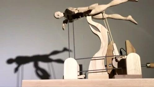 巧妙的机械设计结构,模拟的动作很逼真!