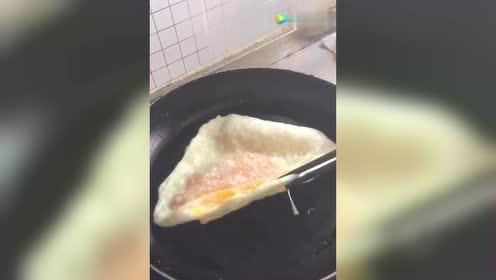 自制鸡蛋灌饼!是这么做的吗?!