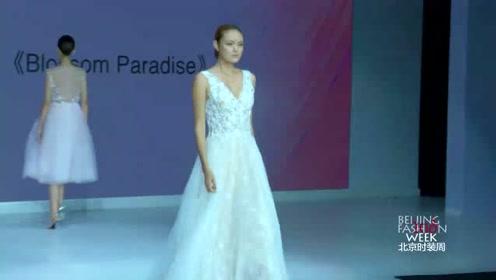 美女模特时尚走秀,轻盈飘逸的材质,美若天仙