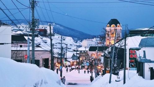 日本北海道太美,冬天,想和你去北海道,做一对白色恋人