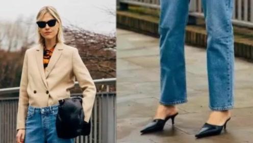 牛仔裤虽然人人都有,但想穿的显瘦时尚,这5双鞋子不容错过
