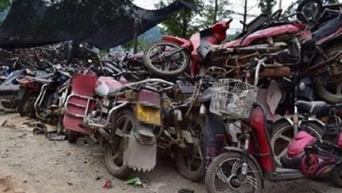 天天去农村收破摩托的人拿它们干嘛?听完去处,没人再卖车了!