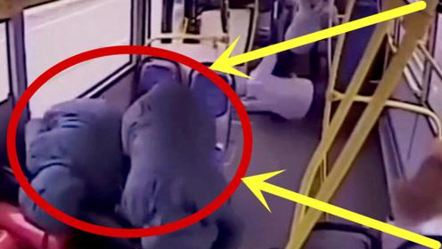 公交车司机打瞌睡,车上乘客瞬间飞了出去,太恐怖了!