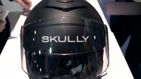 设计的智能头盔,配备抬头显示,能导航还能接听电话