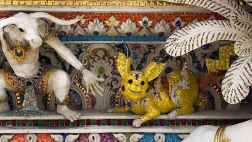 """寺庙界的""""泥石流"""",它不仅供奉佛像,还供奉皮卡丘和米老鼠"""