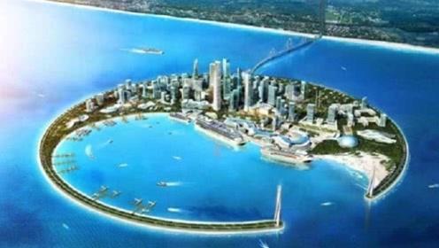 """海南耗资84亿造海上不夜城,预计2027年完工,堪称""""东方迪拜"""""""
