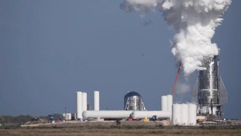 """SpaceX""""星际飞船""""测试中发生爆裂 机体喷发大量浓烈白烟"""