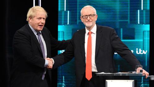 英国大选首场电视辩论 约翰逊科尔宾互送圣诞大礼?