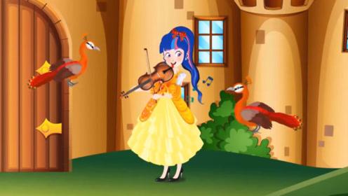 两女子表演小提琴,其中一人暗中搞捣鬼,结果太解气了