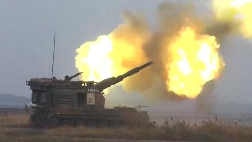 罕见!05式155炮实弹炮击海上移动靶画面曝光