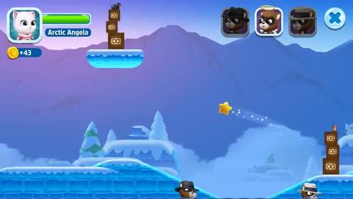 好玩的游戏:好开心的安吉拉猫!因为要和浣熊比赛?!