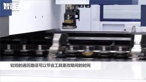 国外的换模机器和零件收集工厂车间,干净整洁效率也高