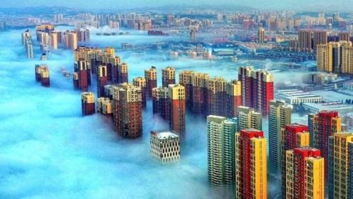 人间仙境!吉林松花江沿岸现平流雾景观