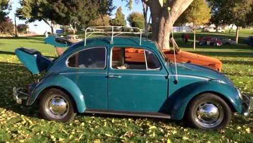 经典大众汽车展 全是老款古董车!