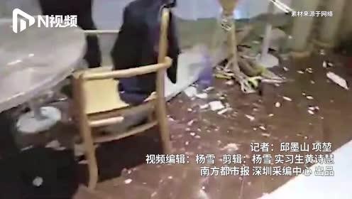 深圳卓悦汇商场一楼天花板发生大面积垮塌,此前事发区域正在装修