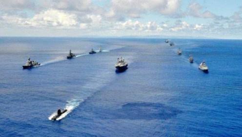 """多方举行海上大型军演,出云号准航母占据""""C位"""",彰显日方野心"""