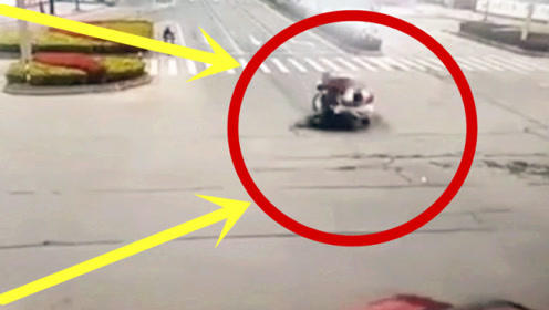 电车夫妻强闯红灯,遇上亡命司机,监控还原生前2秒!