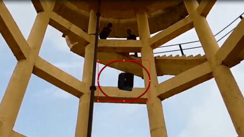 将电视机从100英尺的高空推下蹦床,会发生什么?结局惨不忍睹