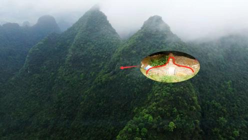 400米高的悬崖山洞,无人机好奇靠近去拍摄,你猜发现了啥?