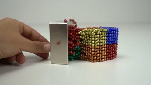 当钕磁铁遇上磁珠,会发生什么好玩的事?慢镜头还原神奇一幕