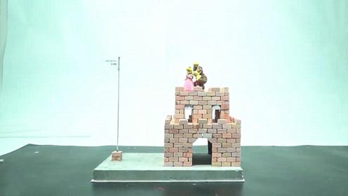 游戏模型DIY,超级玛丽堡垒的制作方法!