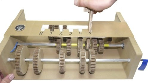 老外用纸板自制5速手动变速箱,原来工作原理如此简单