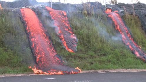 岩浆的破坏力有多强?所到之地寸草不生,就是这速度限制想象!