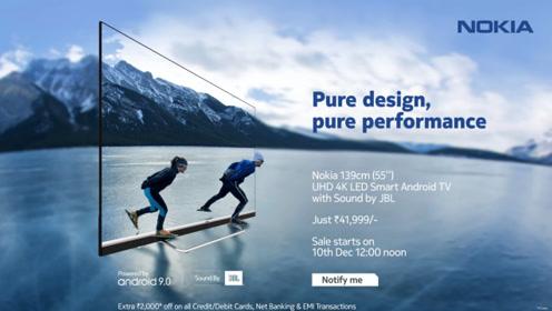 诺基亚智能电视印度市场开售:采用长条状JBL扬声器