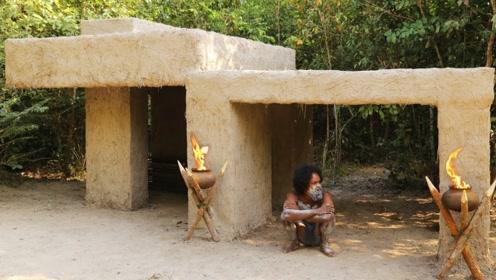 丛林野人里的现代主义大师,用木棍泥土造现代别墅,真厉害!