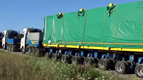 世界上轮子最多的卡车,能载重80吨,回头率太高了