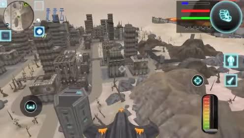 飞船机器人执行任务!飞行中最后撞在地面爆了!